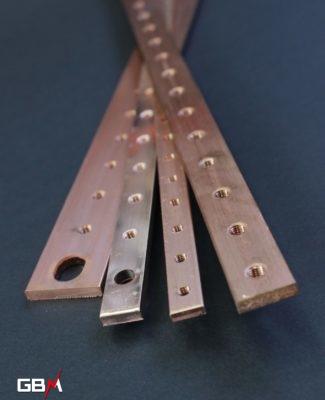 Barre de cuivre taraudée pour armoire électrique