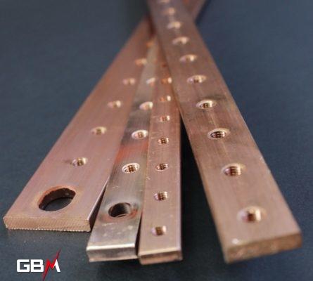 Barre de cuivre taraudée pour jeux de barre