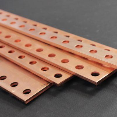 Barres cuivre perforées