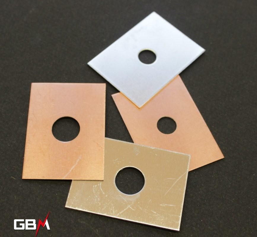 Plaques bimétalliques cuivre/aluminium