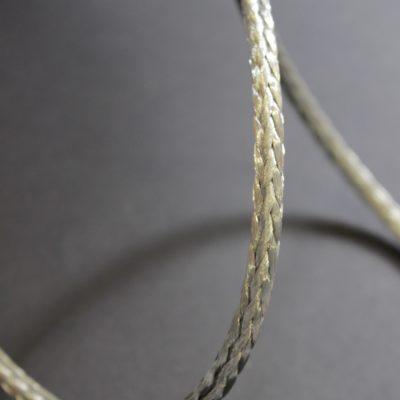 Tresse ronde cuivre étamé en couronne