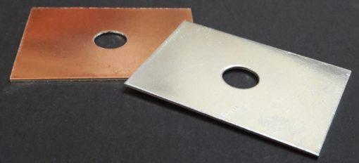 Plaques bimétalliques cuivre/aluminium visserie M10